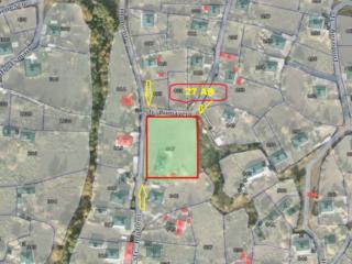Spre vanzare teren de colt pentru constructii cu amplasare pe strada .