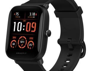 Смарт-часы Amazfit Bip U, чёрные, новые, в упаковке. Цена - 1300 руб.