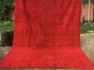 Ковер ковровое покрытие красное