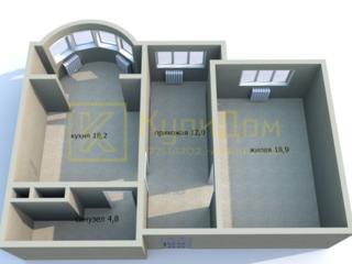 1 - комнатная квартира площадью 53,9 кв. м. в Тирасполе