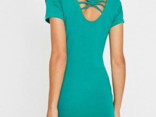 Платье. Зелёный цвет. Натуральный хлопок.