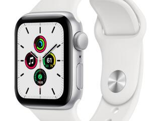 Apple Watch SE 44mm Aluminum Case with Pure Platinum Black Nike Sport