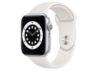 Apple Watch Series 6 GPS 44mm Aluminum Case with White Sport Band