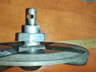 Шкивы ременные(2 шт) и внутр. диск от стиральной маш. для вращения вещ