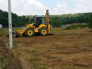 Очистка участков территории Доставка чернозема глины планировка облагоражив