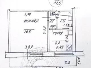 1-комнатная квартира на Борисовке, 3/5 эт., балкон 6м. Торг!
