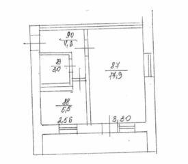Продаётся 1-комнатная квартира