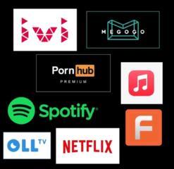 Аккаунты Netflix, ivi, oko, megogo, Spotify