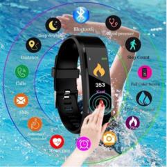 Смарт браслет: часы, пульсометр, артериальное давление. Smart watch.