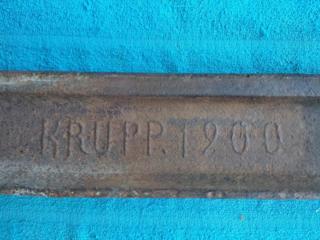 Продам фрагмент рельса KRUPP 1900 г.