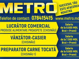 Metro angajeaza vânzător - casier, lucrător comercial