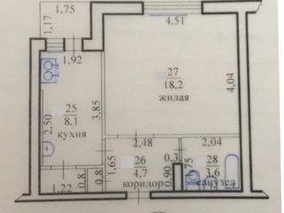 Однокомнатная квартира, 9 эт/9, ул. Вершигоры дом №119, 5000 $.