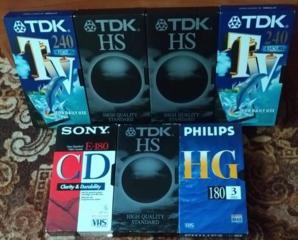 Видеокассеты б/у 7 штук