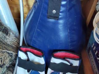 Груша боксерская с перчатками, подвеской Budsport