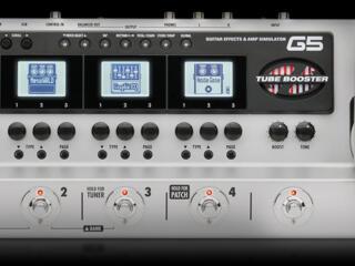 ZOOM G5 - procesor cu lampa 12AX7, looper, rhytm-machine, USB