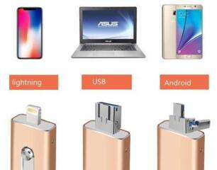 3 в 1 OTG USB Flash Drive 512 GB для iPhone/iPad/iOS/Android/PC 150 руб