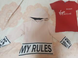Кофта на дівчинку + футболка в подарунок