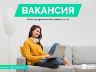 Менеджер в онлайн-университет