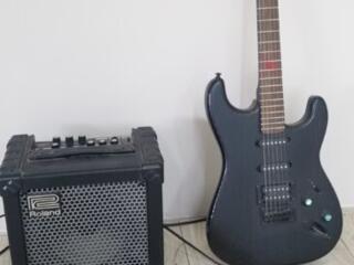 Электрогитара + комбик Roland