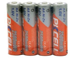 Аккумуляторная Батарея PKCELL АА 2500mWh 1.6 В Вольт NiZn, ICR18650.