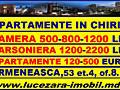 Apartamente in chirie Camera 500-1200 lei. Garsoniera 1200-2000 lei.