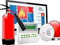 Охранно-пожарная сигнализация, sistema alarmei de foc si securitatea.