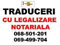 Traduceri cu legalizare notariala. Lucram in regim normal.