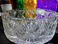 Хрустальная большая ваза для праздничных салатов. Хрусталь СССР.