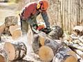 Распил дров бензопилой/электропилой Колка дров - Ручная колка, топорами