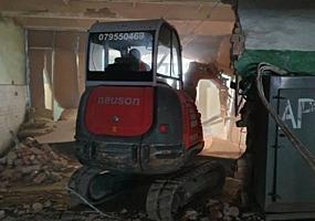 Demolari mecanizate, eсxavator pentru demolari